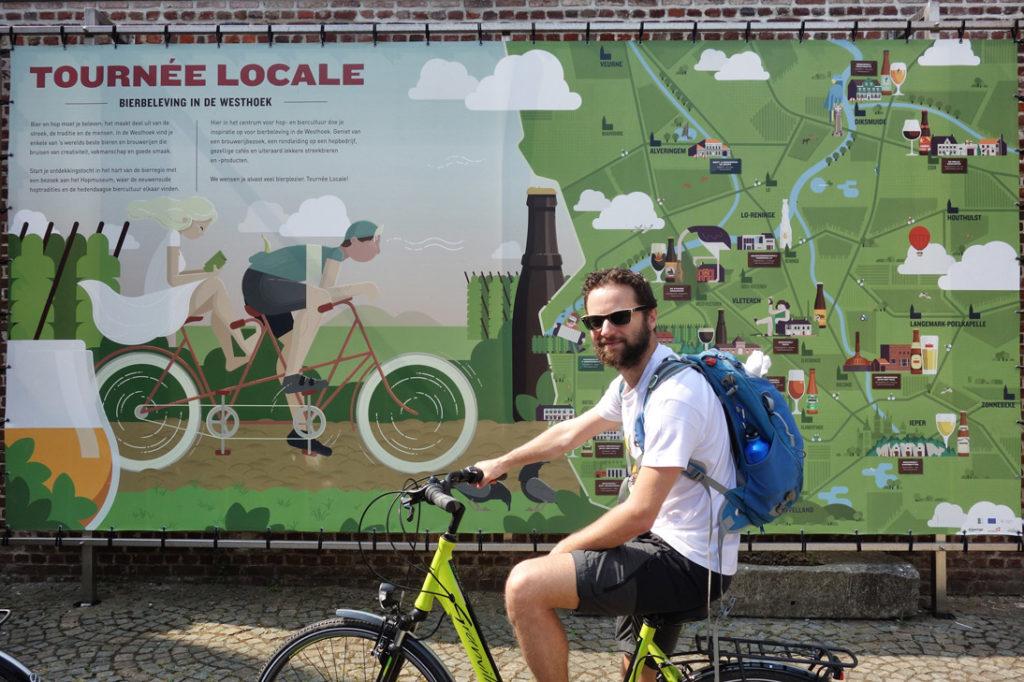 Balade a velo Poperinge - Tournée locale