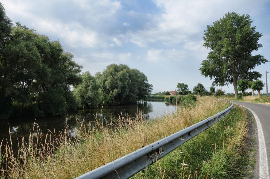 Route fleuve Yser Flandre