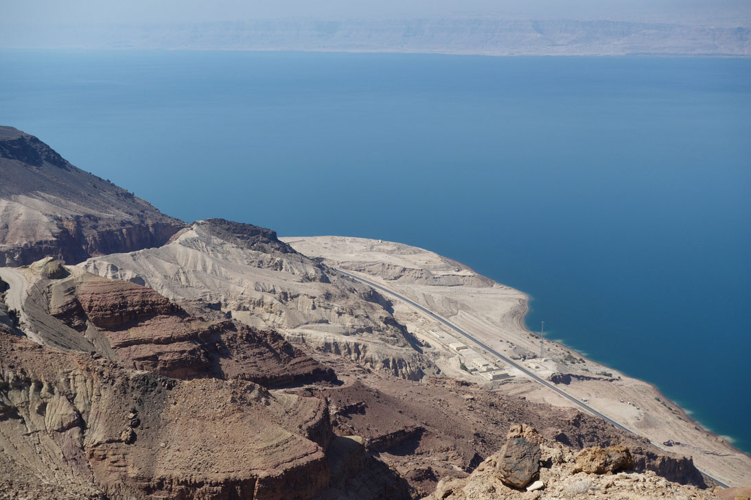 Mer Morte Route Vers Dead Sea Panorama Complex