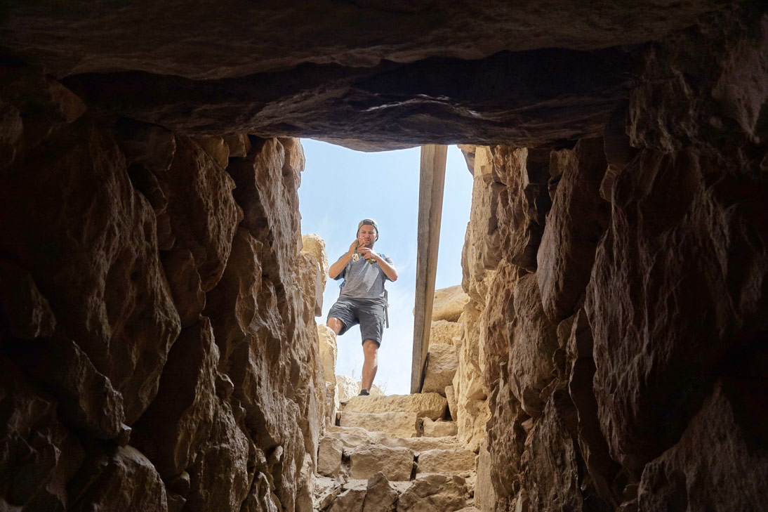 Chateau de shawback escaliers Jordanie