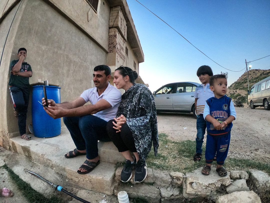 Selfie famille jordanienne Dana