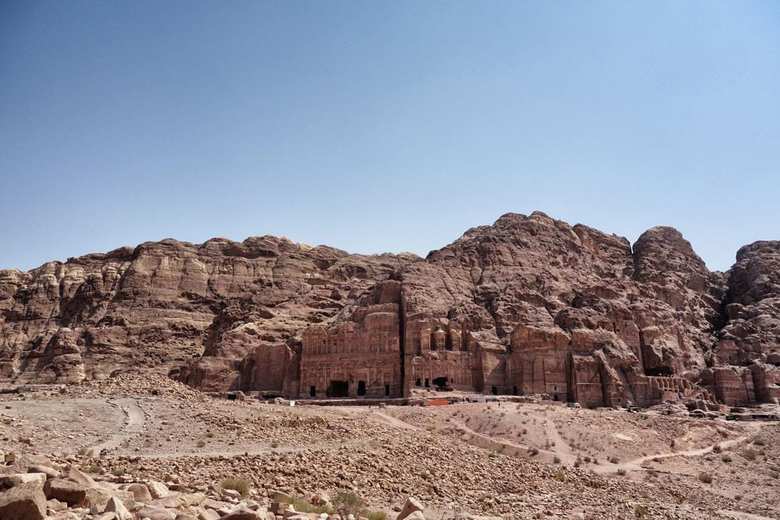 Tombeaux royaux vue Petra Jordanie