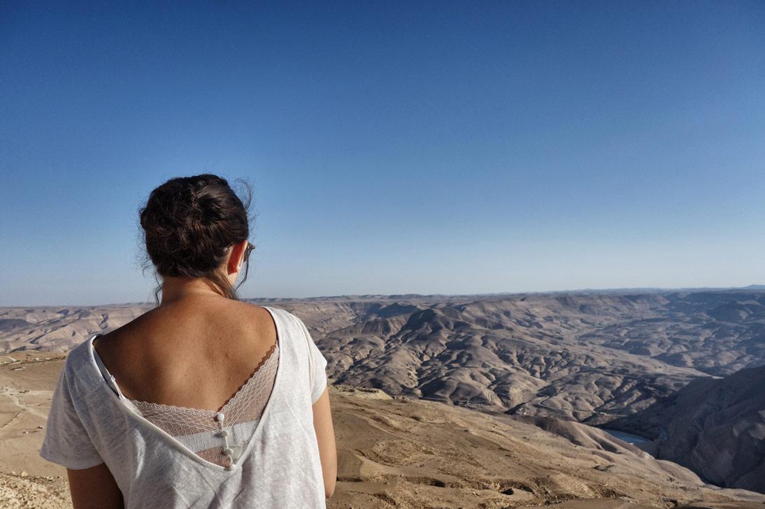 Wadi Mujib vue Anais Jordanie