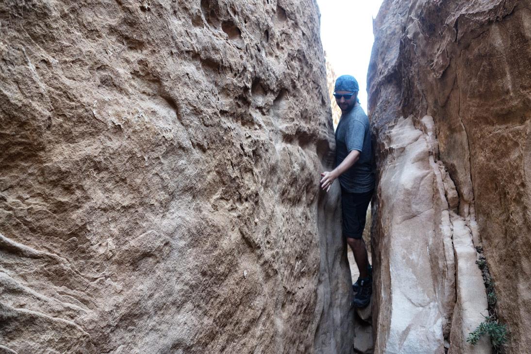 Serre les fesses dans le Wadi Rum