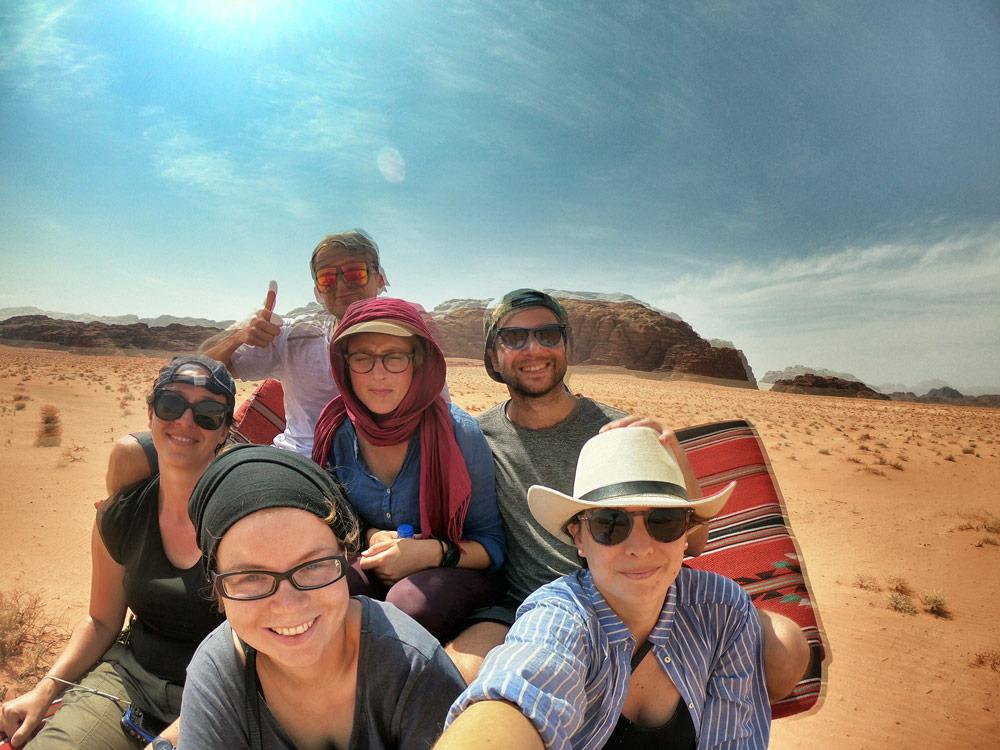 Sur le toit du 4x4 Wadi Rum