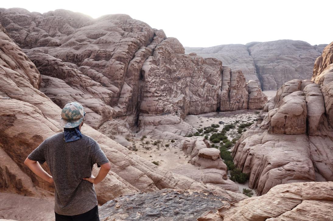 Vue plongeante Wadi Rum