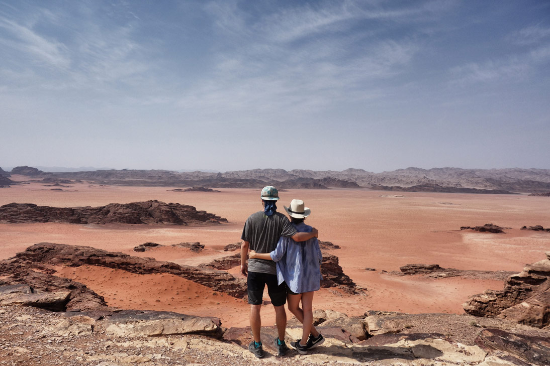 Wadi Rum frontière Arabie Saoudite