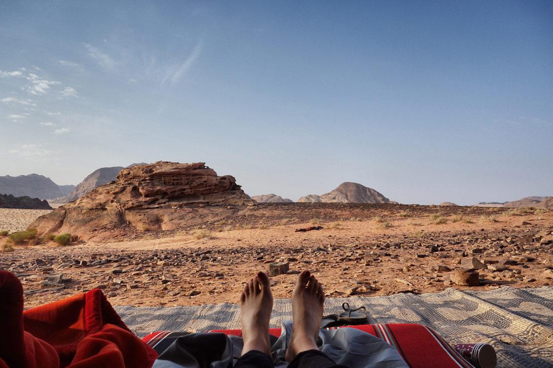 chambre avec vue désert Wadi Rum