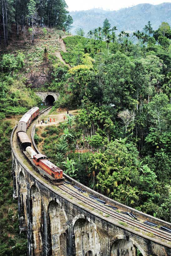 Sri Lanka Ella Train Pont Nine Arches Bridge