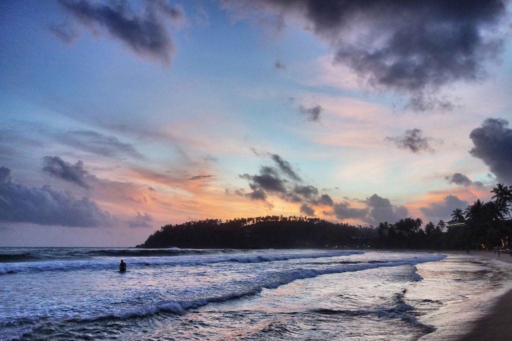 Sri Lanka Mirissa coucher de soleil