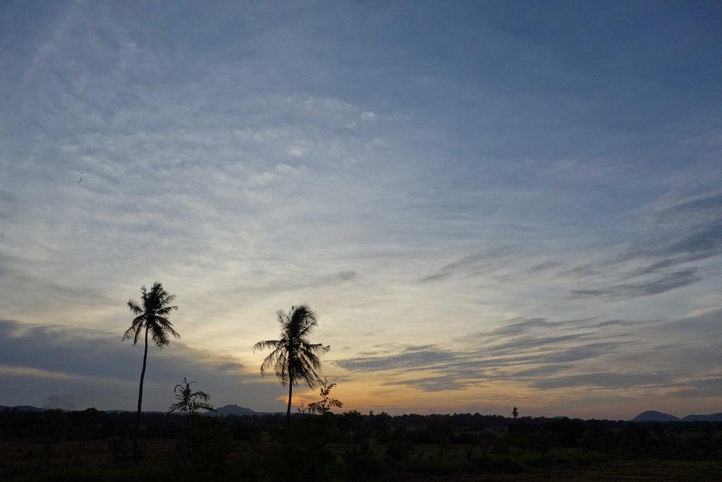 Sri Lanka Polonnaruwa Coucher de soleil