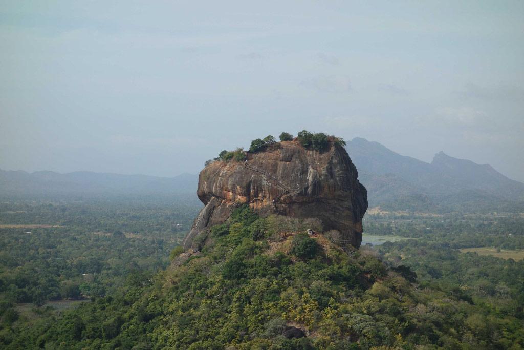 Sri Lanka Sigiriya Vue depuis le Pidurangala