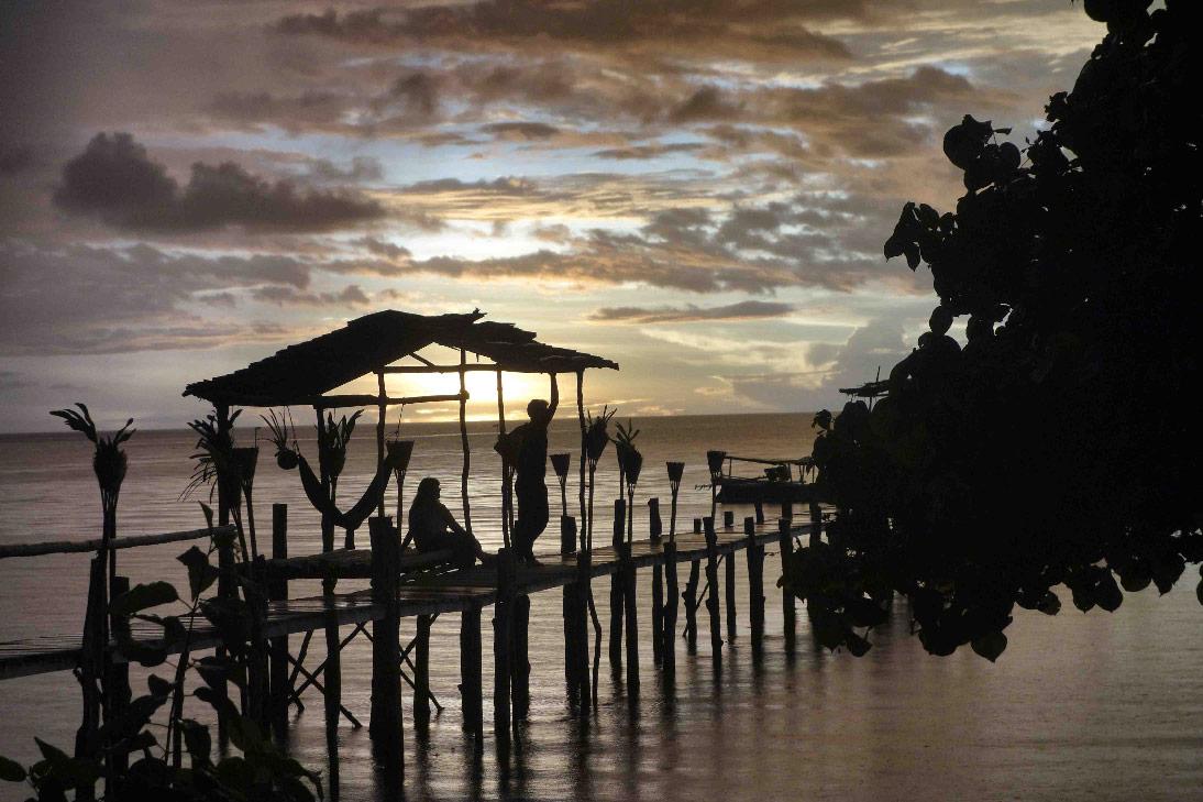 poki poki coucher de soleil togian