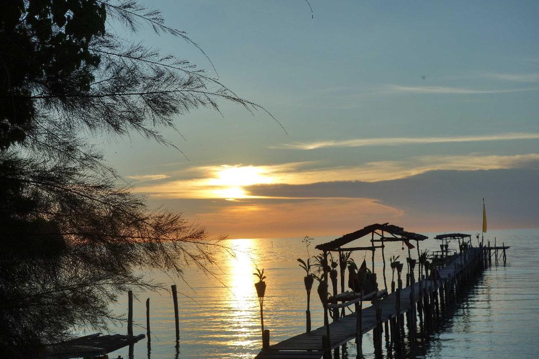 poki poki coucher de soleil